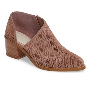1. State Iddah Perforated Cutout Ankle Booties